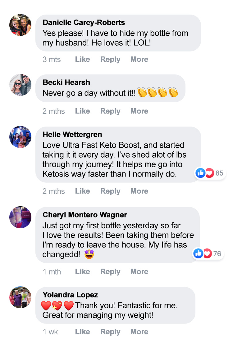 Customer Reviews Ultra Fast Keto Boost